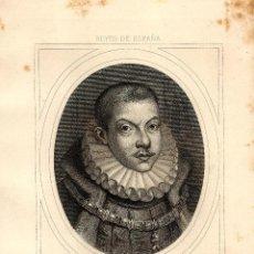 Arte: FELIPE III EL PIADOSO REY DE ESPAÑA IMPERIO ESPAÑOL RETRATO GRABADO SIGLO DE ORO. Lote 113667563
