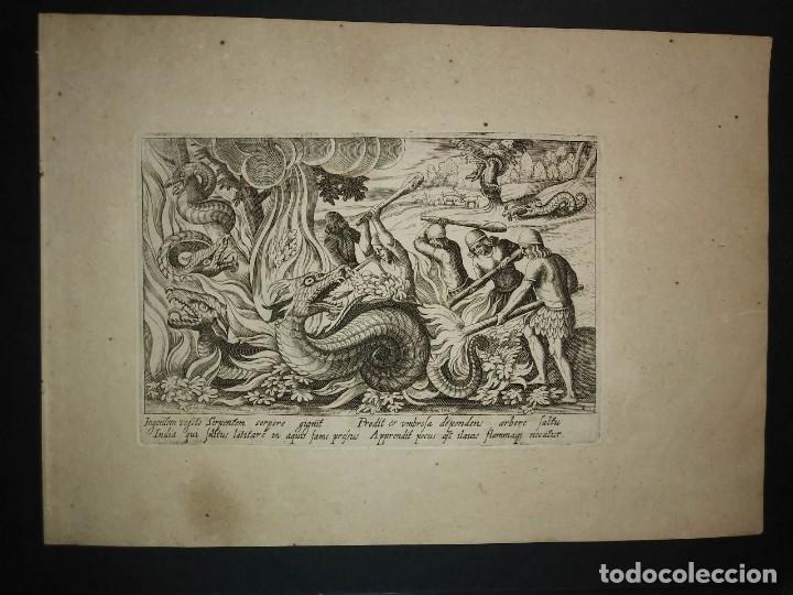 1612 Colección de 22 grabados de Caza. Venationes. Antonio Tempesta. Christoffer van Sichem - 113734311