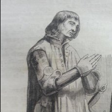Arte: GRAN GRABADO 1844. ORIGINAL. ESTATUA SEPULCRO GUZMAN EL BUENO 16 X 8 CM. DIFICILISIMO. EL LABERINTO. Lote 113870107