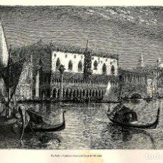 Arte: CANALES VENECIA PALACIO DUCAL ITALIA PALAZZO DUCALE GÓNDOLAS . Lote 113888619