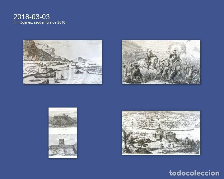 GRABADOS ANTIGUOS MÉXICO DESCUBRIMIENTO AMÉRICA 4 DISTINTOS CON CERTIFICADO DE AUTENTIC. (Arte - Grabados - Antiguos hasta el siglo XVIII)
