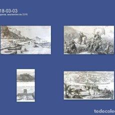 Arte: GRABADOS ANTIGUOS MÉXICO (4) GRABADOS ANTIGUOS DESCUBRIMIENTO AMÉRICA CON CERTIF. AUTENTIC.. Lote 113999111