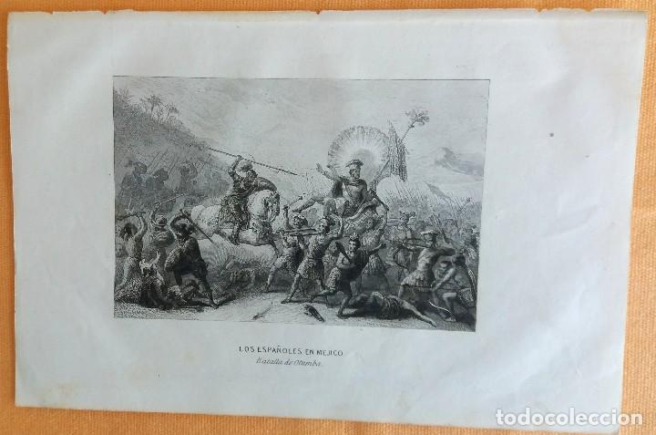 Arte: Grabados antiguos México Descubrimiento América 4 distintos con certificado de autentic. - Foto 8 - 113999111