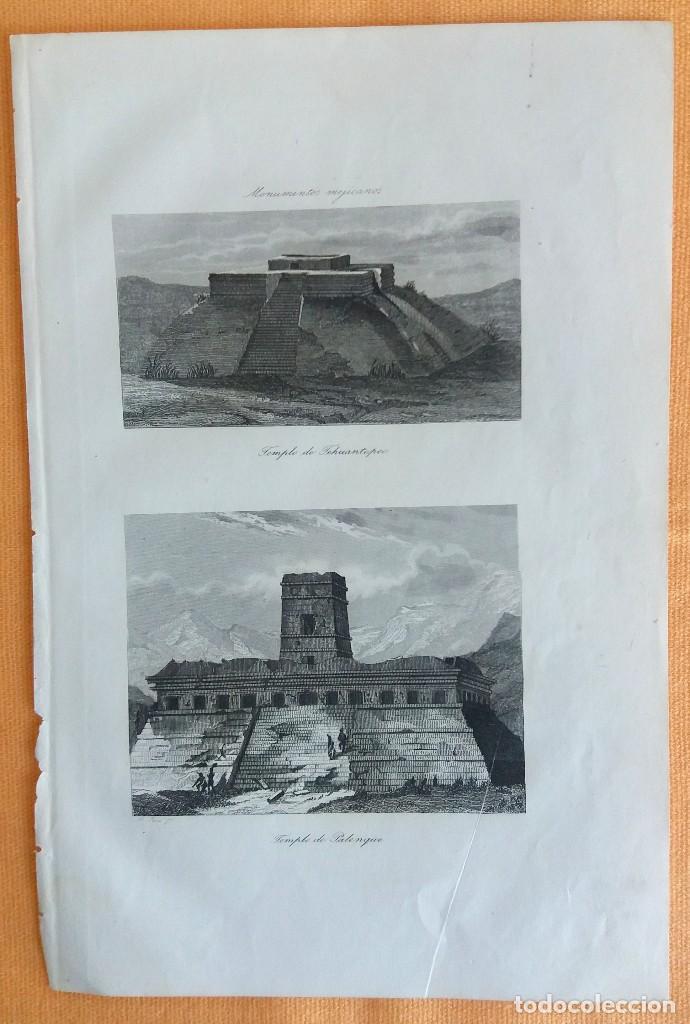 Arte: Grabados antiguos México Descubrimiento América 4 distintos con certificado de autentic. - Foto 9 - 113999111