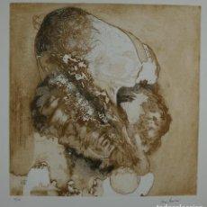 Arte: GRABADO AL AGUAFUERTE 5/25 PERFIL BUSTOS FIRMA ILEGIBLE FINALES SIGLO XX. Lote 114016023