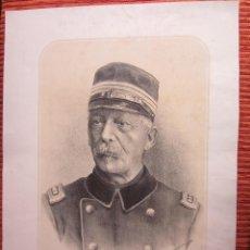 Arte: 1900C-GENERAL SUIZO HANS HERZOG. GRABADO ORIGINAL. MILITAR. EJÉRCITO. MUY GRANDE. Lote 114037027