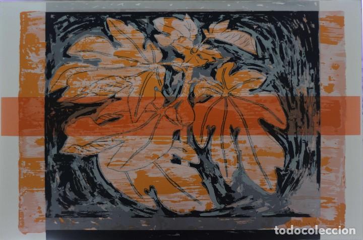 Arte: ALFONSO ALBACETE- ESPETACULAR GRABADO-122X80 CM..LA HIGUERA - Foto 4 - 114110795