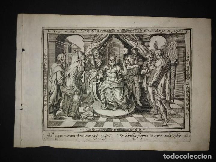 Arte: 8 Grabados EXODUS Jean Le Clerc 1611 Pasajes bíblicos. Judaica - Foto 7 - 114225371