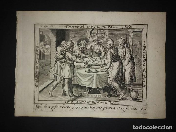 Arte: 8 Grabados EXODUS Jean Le Clerc 1611 Pasajes bíblicos. Judaica - Foto 13 - 114225371