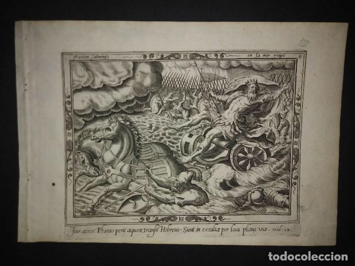 Arte: 8 Grabados EXODUS Jean Le Clerc 1611 Pasajes bíblicos. Judaica - Foto 17 - 114225371