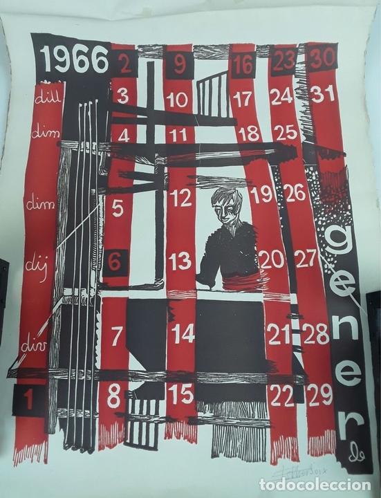 Arte: OFICIOS. 12 LITOGRAFÍAS. FIRMADAS POR CADA ARTISTA. 1965. - Foto 2 - 114263975