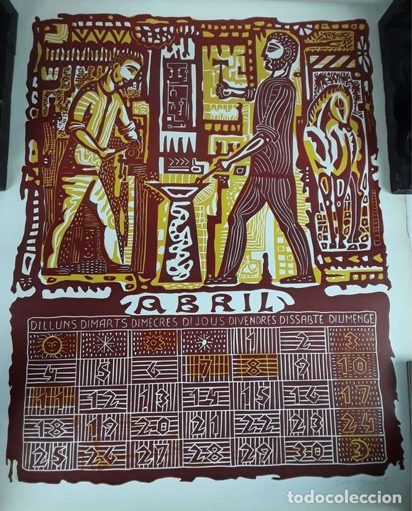 Arte: OFICIOS. 12 LITOGRAFÍAS. FIRMADAS POR CADA ARTISTA. 1965. - Foto 8 - 114263975
