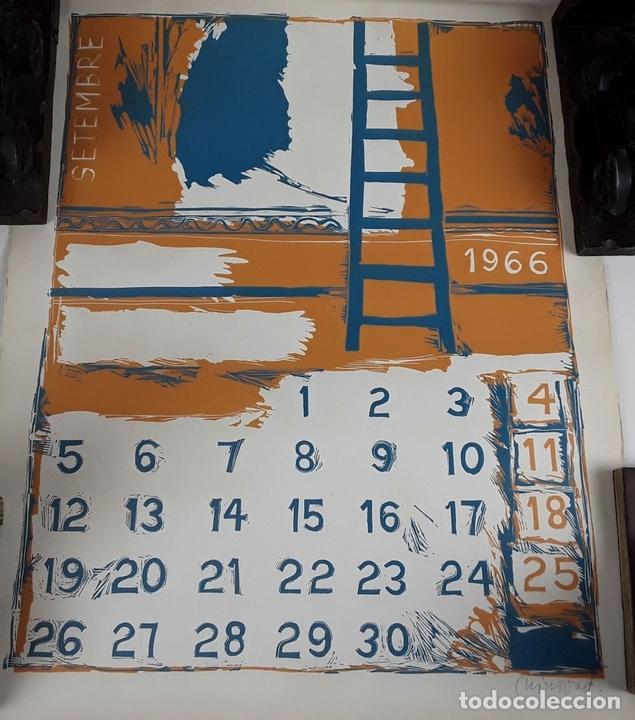 Arte: OFICIOS. 12 LITOGRAFÍAS. FIRMADAS POR CADA ARTISTA. 1965. - Foto 18 - 114263975