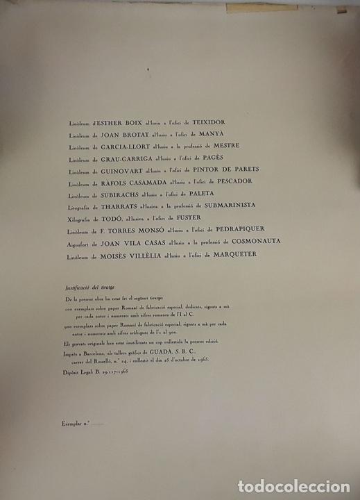Arte: OFICIOS. 12 LITOGRAFÍAS. FIRMADAS POR CADA ARTISTA. 1965. - Foto 25 - 114263975