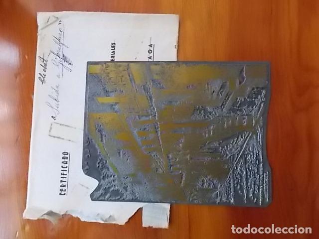 MATRIZ , PLANCHA ORIGINAL/ SUBIDA A GIBRALFARO / SIGLO XIX FIRMADO FELIX GIL DIAZ (Arte - Grabados - Modernos siglo XIX)