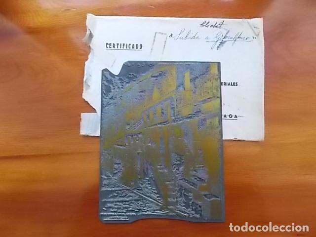 Arte: MATRIZ , PLANCHA ORIGINAL/ SUBIDA A GIBRALFARO / SIGLO XIX FIRMADO FELIX GIL DIAZ - Foto 2 - 114281771