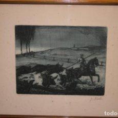 Arte: CÁDIZ.GRABADO AL AGUAFUERTE AGUATINTA FIRMADO POR JOSÉ MORILLO EL ENCIERRO .MIDE 31 X 42 CMS.. Lote 114287987