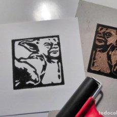 Arte: DETALLES DE GRABADO ORIGINAL LINÓLEO -YODA- (STAR WARS). AUTOR: MIGUEL ALFARO. Lote 160299618