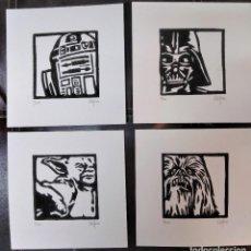 Arte: DETALLES DE COLECCIÓN GRABADOS ORIGINALES LINÓLEOS (STAR WARS). AUTOR: MIGUEL ALFARO. Lote 233738430