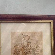Arte: ANTIGUO GRABADO AUTENTICO ORIGINAL NUMERADOS BUSY BEARS OSOS OCUPADOS EDICION LIMITADA. Lote 114430603