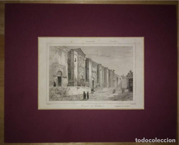 GRABADO MEZQUITA DE CÓRDOBA. LEMAITRE DIREXIT. GRABADO SIGLO XIX (Arte - Grabados - Modernos siglo XIX)