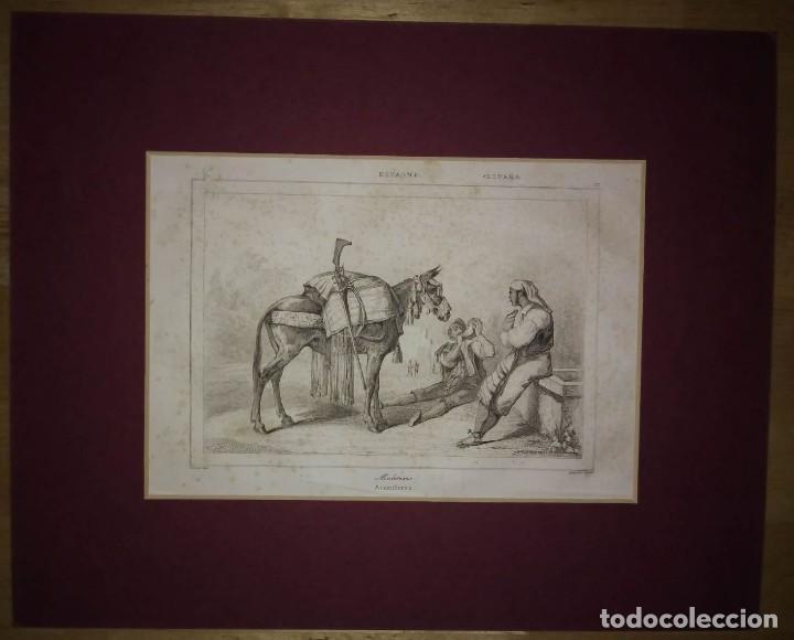 GRABADO ACEMILEROS. LEMAITRE DIREXIT. GRABADO SIGLO XIX (Arte - Grabados - Modernos siglo XIX)