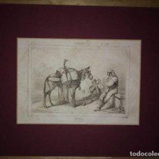 Arte: GRABADO ACEMILEROS. LEMAITRE DIREXIT. GRABADO SIGLO XIX. Lote 114524383