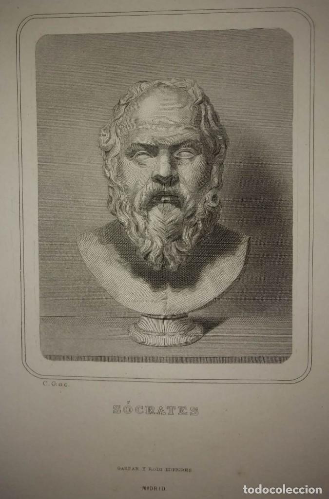 GRABADO SOCRATES SIGLO XIX (Arte - Grabados - Modernos siglo XIX)