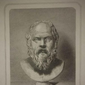 Grabado antiguo de SOCRATES Siglo XIX