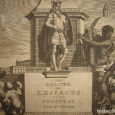 Arte: GRABADO FRONTISPICIO ALEGORÍA PORTUGAL, REY ALFONSO I, ORIGINAL, VAN DER AA, 1707, ESPLÉNDIDO ESTADO. Lote 114690767