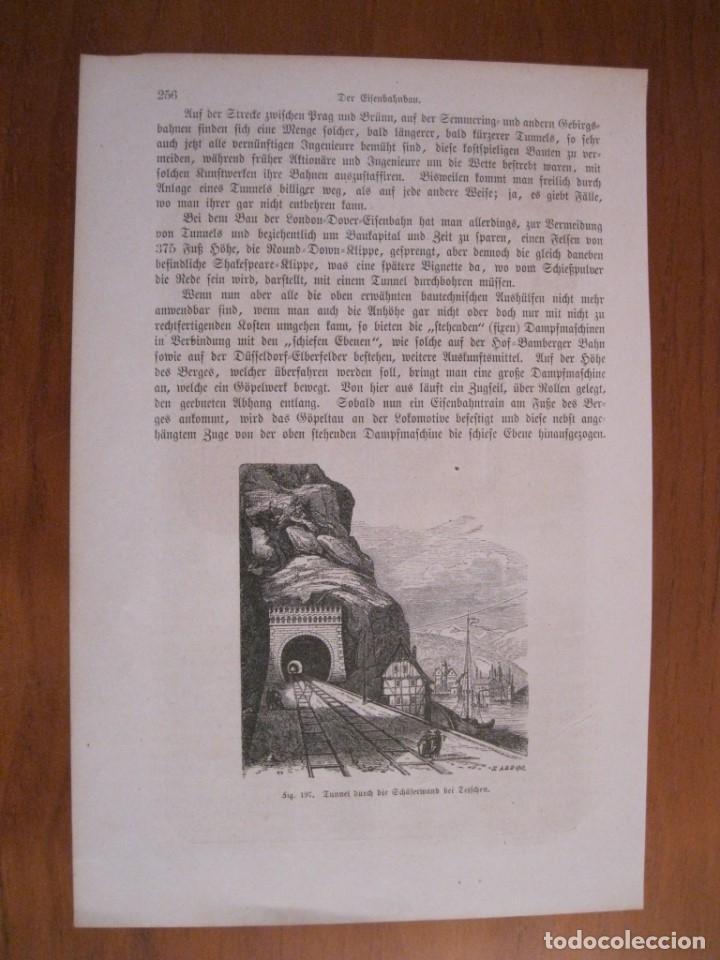 Arte: Antigua máquina tuneladora alemana, 1864. Anónimo - Foto 2 - 114715407