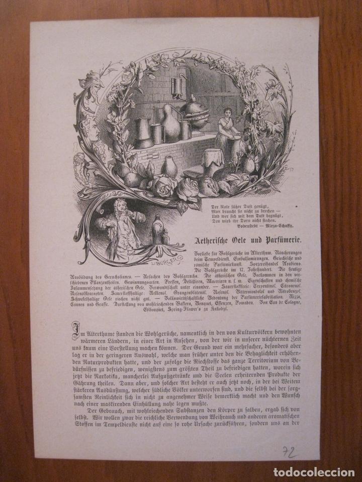 ANTIGUA PERFUMERÍA , 1872. ANÓNIMO (Arte - Grabados - Modernos siglo XIX)