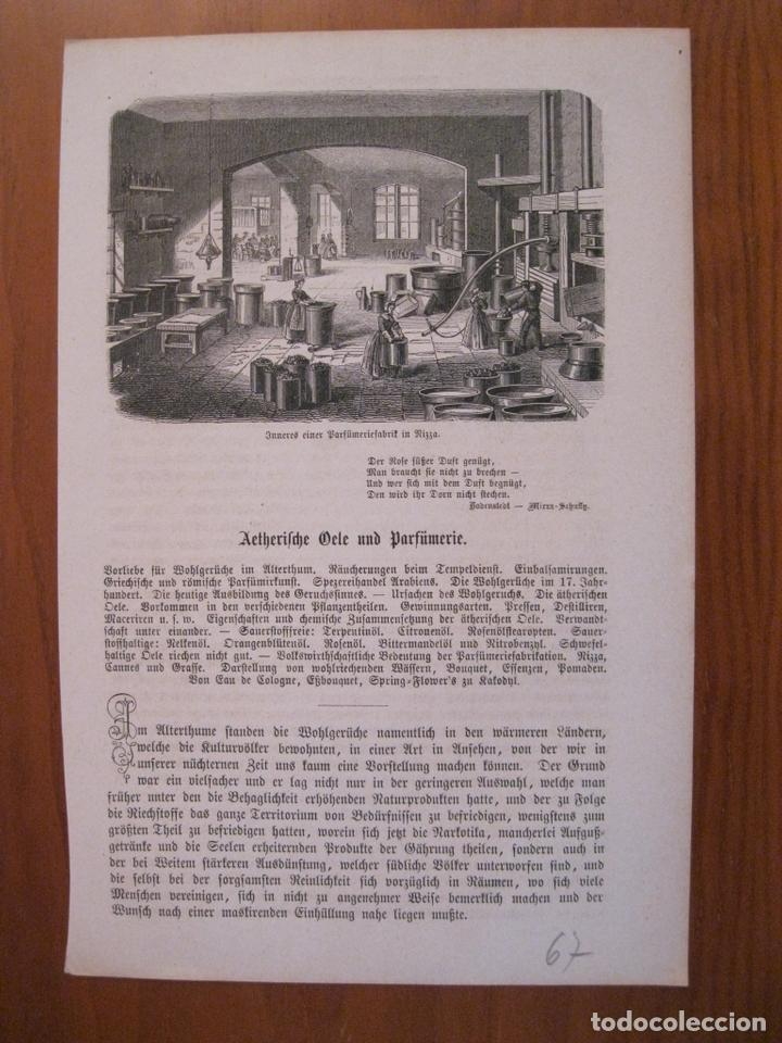 ANTIGUA FÁBRICA DE PERFUMES EN NIZA (FRANCIA), 1867. ANÓNIMO. (Arte - Grabados - Modernos siglo XIX)