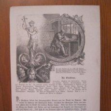 Arte: EL GRABADOR DE PIEDRAS PRECIOSAS, 1872. ANÓNIMO.. Lote 114791607