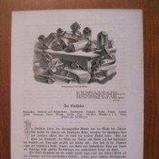 Arte: PIEDRAS SEMI- PRECIOSAS, 1864. ANÓNIMO. Lote 114791659