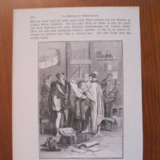 Arte: GUTENBERG Y SUS ESTUDIANTES, 1864. ANÓNIMO.. Lote 114792451