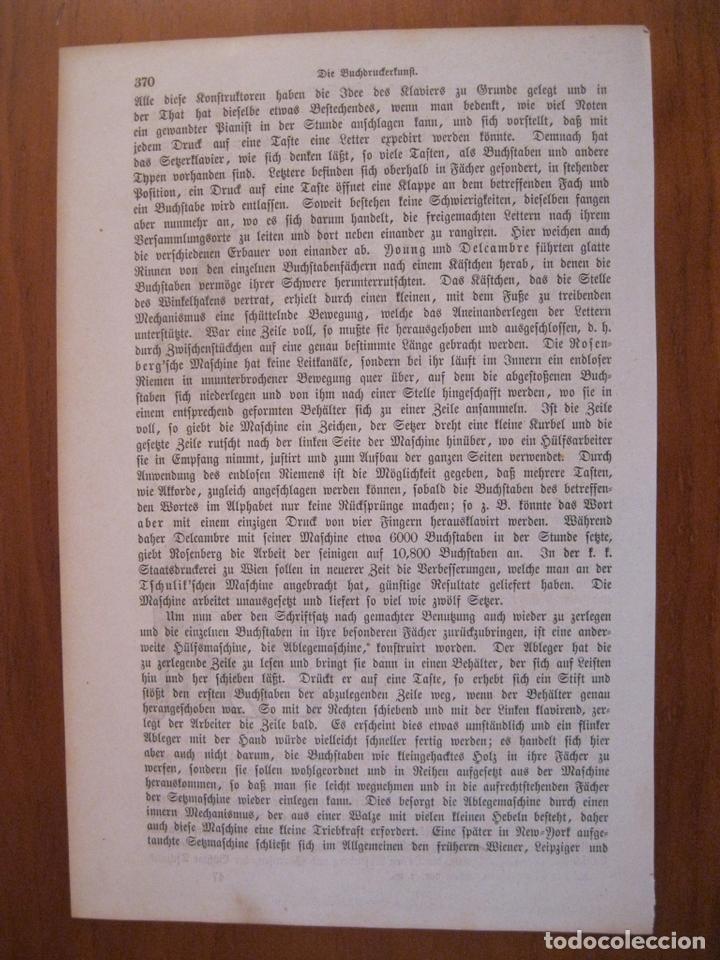 Arte: Antiguas máquinas de escribir, 1864. Anónimo. - Foto 3 - 114792723