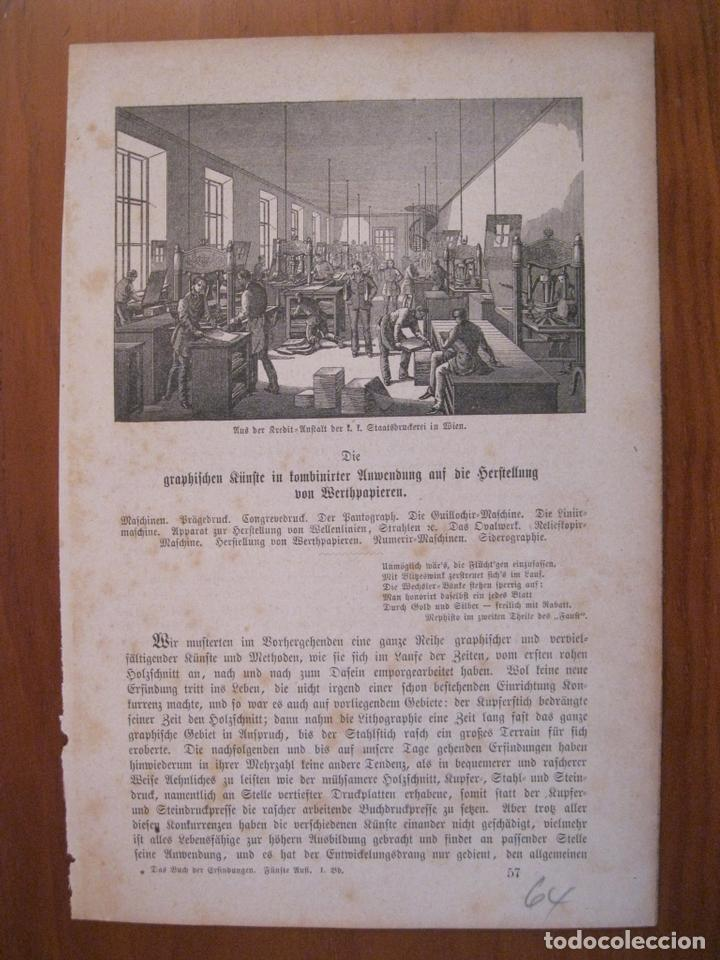 ANTIGUA FÁBRICA DE ARTES GRÁFICAS, 1864. ANÓNIMO (Arte - Grabados - Modernos siglo XIX)
