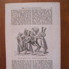 Arte: CASTIGO A UN HOMBRE DE NEGOCIOS EN EL CAIRO ANTIGUO (EGIPTO, ÁFRICA), 1869. ANÓNIMO. Lote 114793003