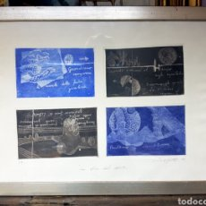 Arte: WALTER SARFATTI, LA VOCE DEL MARE, 1994, COMPOSICION DE 4 GRABADOS,PRUEBA DE AUTOR. ENMARCADA. 55X40. Lote 114832542