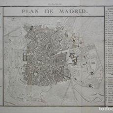 Arte: PLANO DE MADRID DEL SIGLO XIX. Lote 114878647