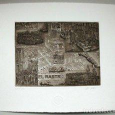 Arte: GRABADO DE JORGE PERELLÓN. TITULADO EL RASTRO . Lote 114942799