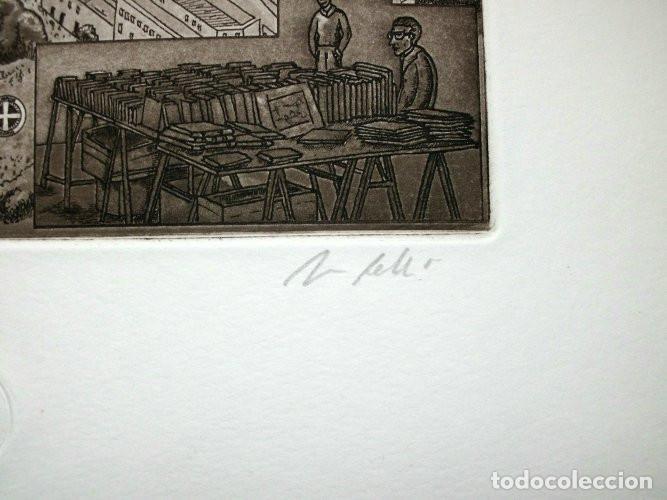 Arte: Grabado de Jorge Perellón. Titulado El Rastro - Foto 2 - 114942799