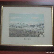 Arte: GRABADO DE ZARAUZ EN COLOR POR EL ARTISTA LEON LAURENT GALAND (1872-1960) FINALES DEL SIGLO XIX. Lote 113665027