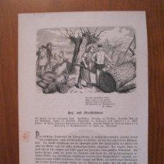 Arte: EL TEJEDOR DE PAJA Y UN CARRUAJE, 1872. ANÓNIMO. Lote 115000247