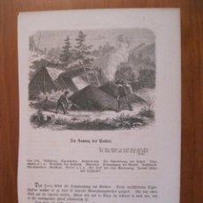 Arte: EL CARBONERO Y SU HIJO, 1864. ANÓNIMO. Lote 115000527