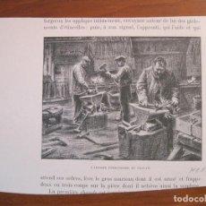 Arte: EL TALLER DEL HERRERO, 1880. ANÓNIMO. Lote 115001507