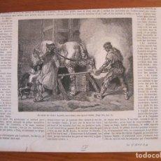 Arte: EL HERRERO EN SU TRABAJO, 1858. ANÓNIMO. Lote 115001587