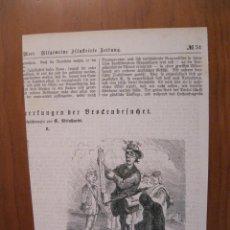 Arte: CARICATURA DE UN ANTIGUO METEORÓLOGO, 1877. ANÓNIMO. Lote 115005143