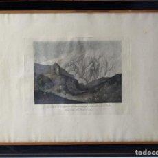 Arte: *B-520.LA CASA DE LA CUMBRE EN EL CAMINO PRINCIPAL DE LA CORDILLERA DE LOS ANDES. COLOREADA. GRABADO. Lote 87798788